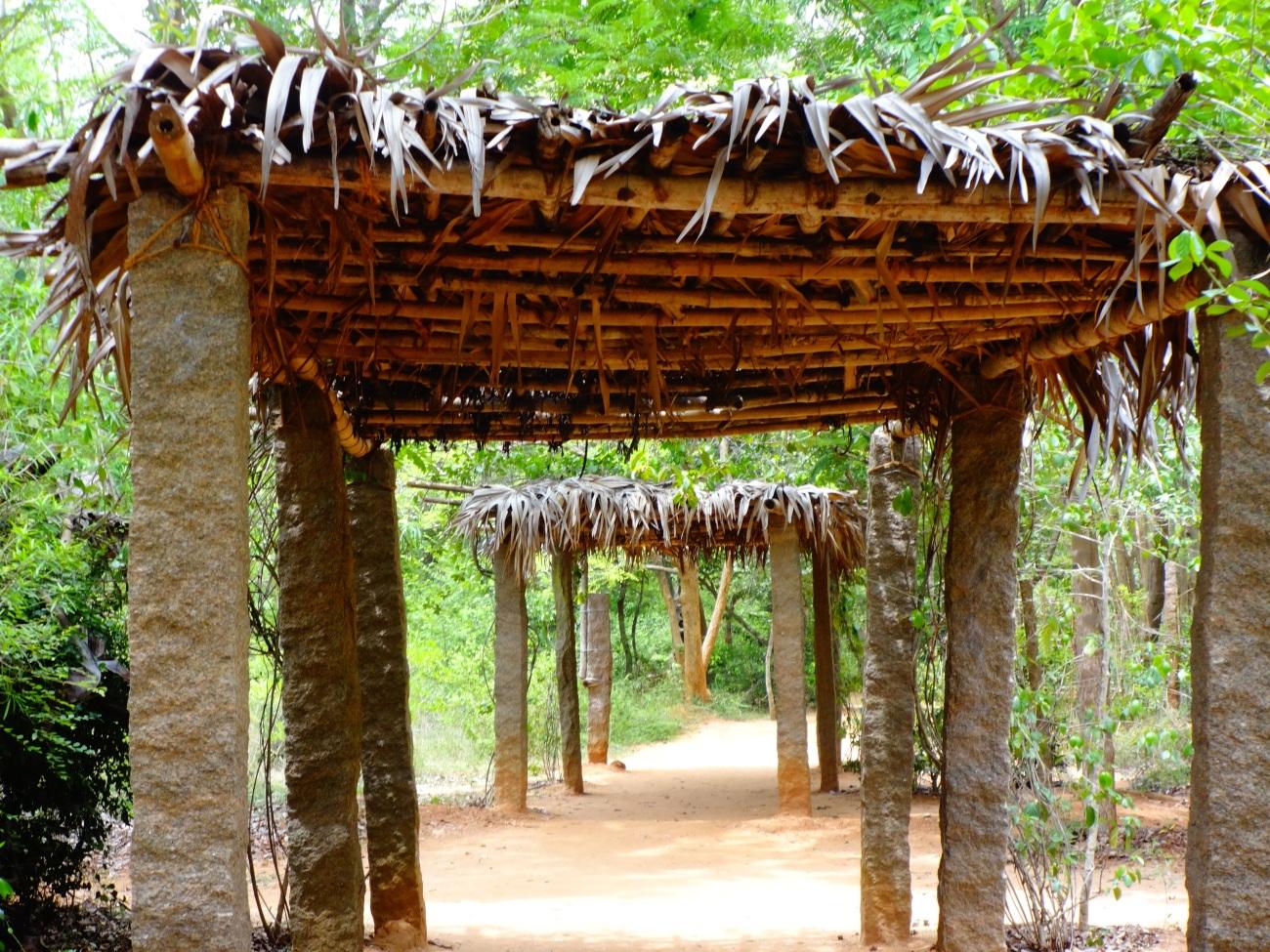 Walking path towards Matirmandir