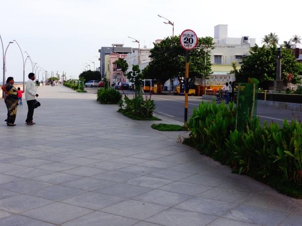 A wide pedestrian near Beach