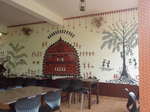 Beautiful Warli Painting at Dining