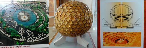 Matirmandir structure and Auroville view