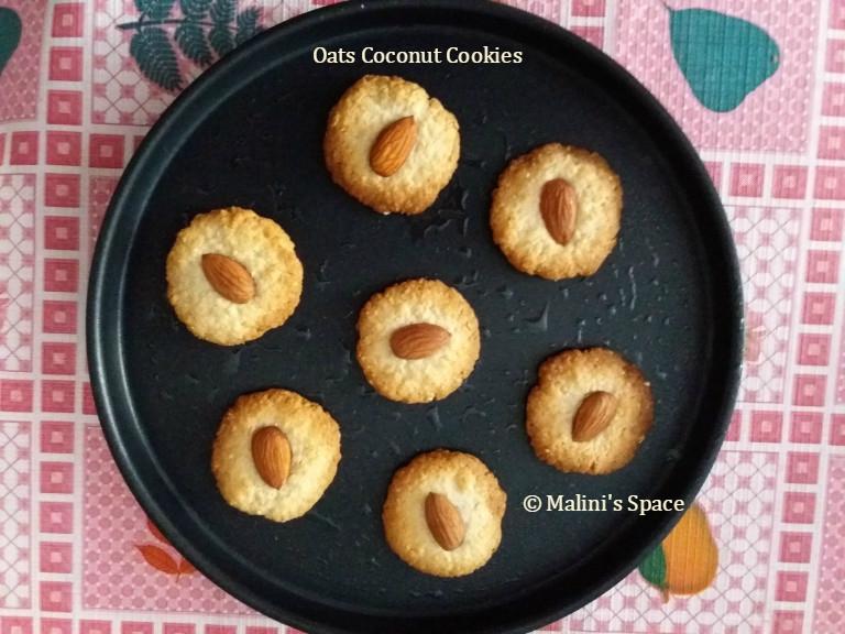 Oats Coconut Cookies