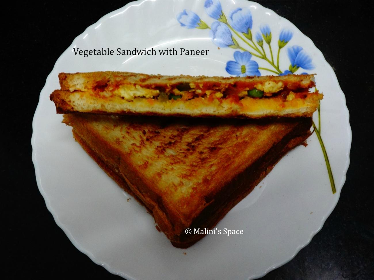 Vegetable Sandwich with Paneer