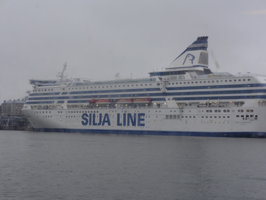 Awesome view of Silja Line from Ferry