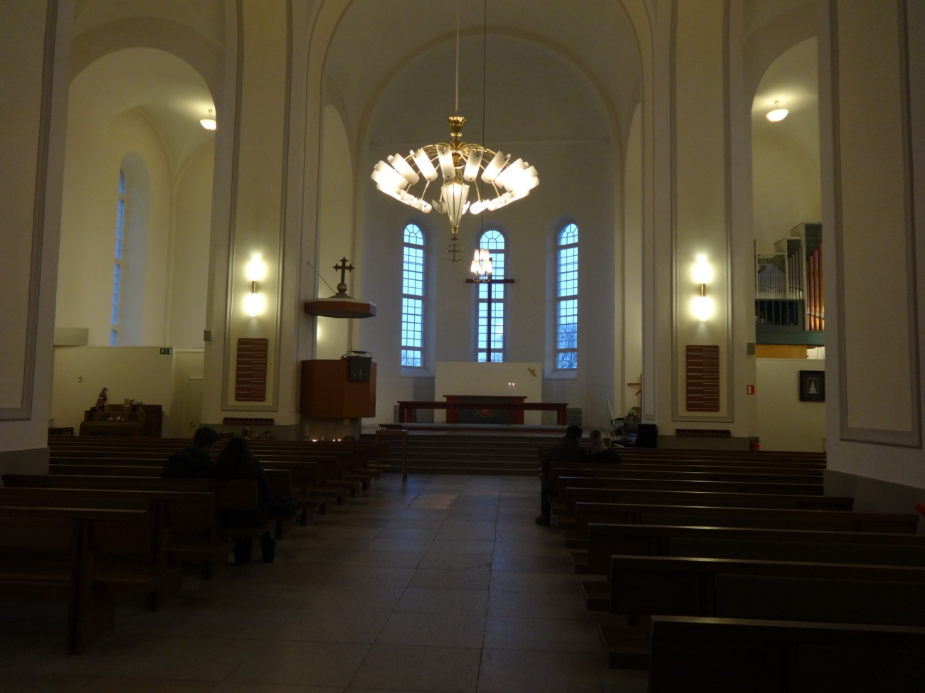 Inside Suomenlinna Church