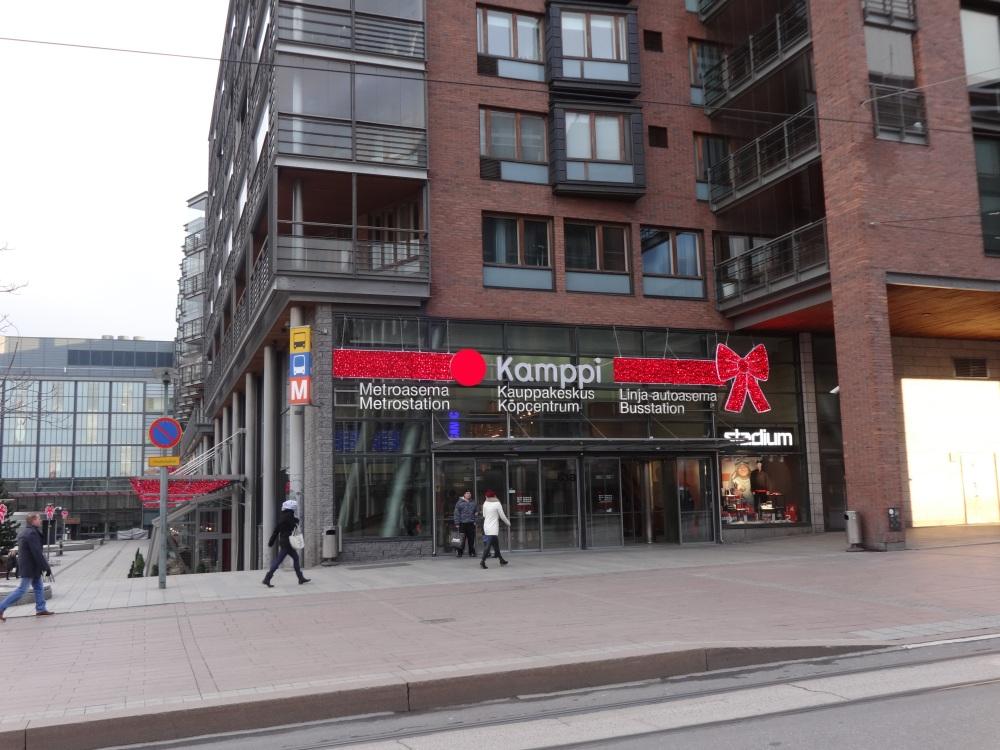 Kamppi Centre in the centre of Helsinki