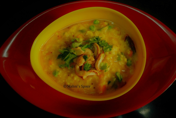 Oats Sambar with Veggies