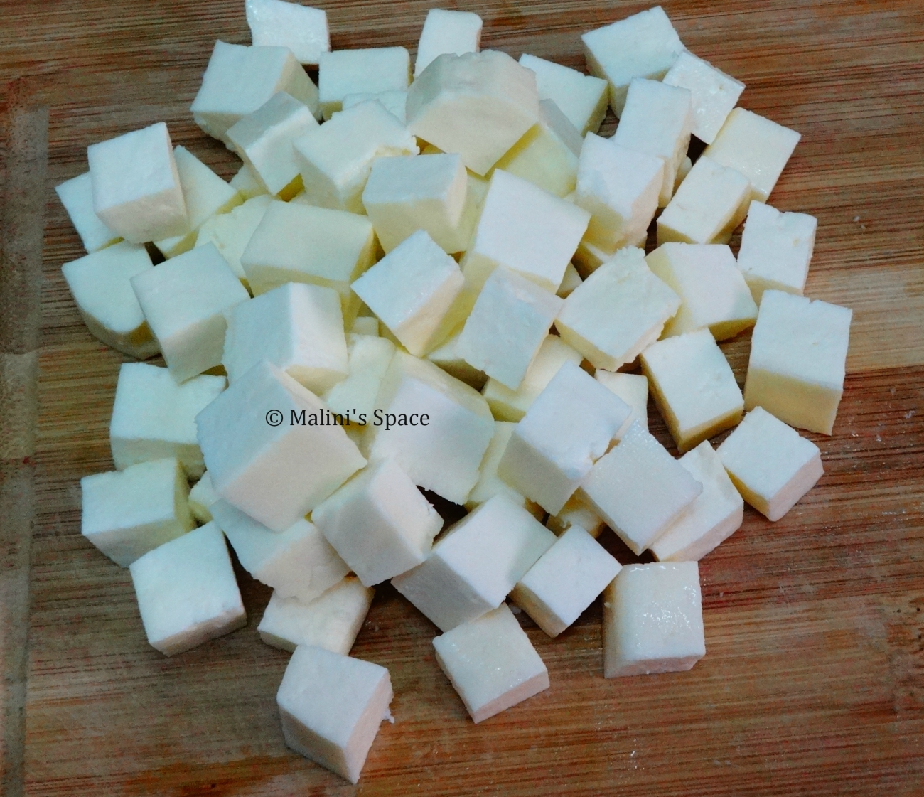 Paneer small cubes