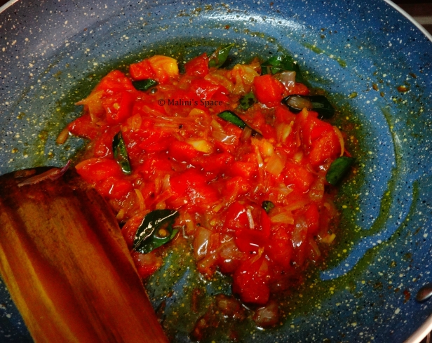 Tomatoes sauteed with onions