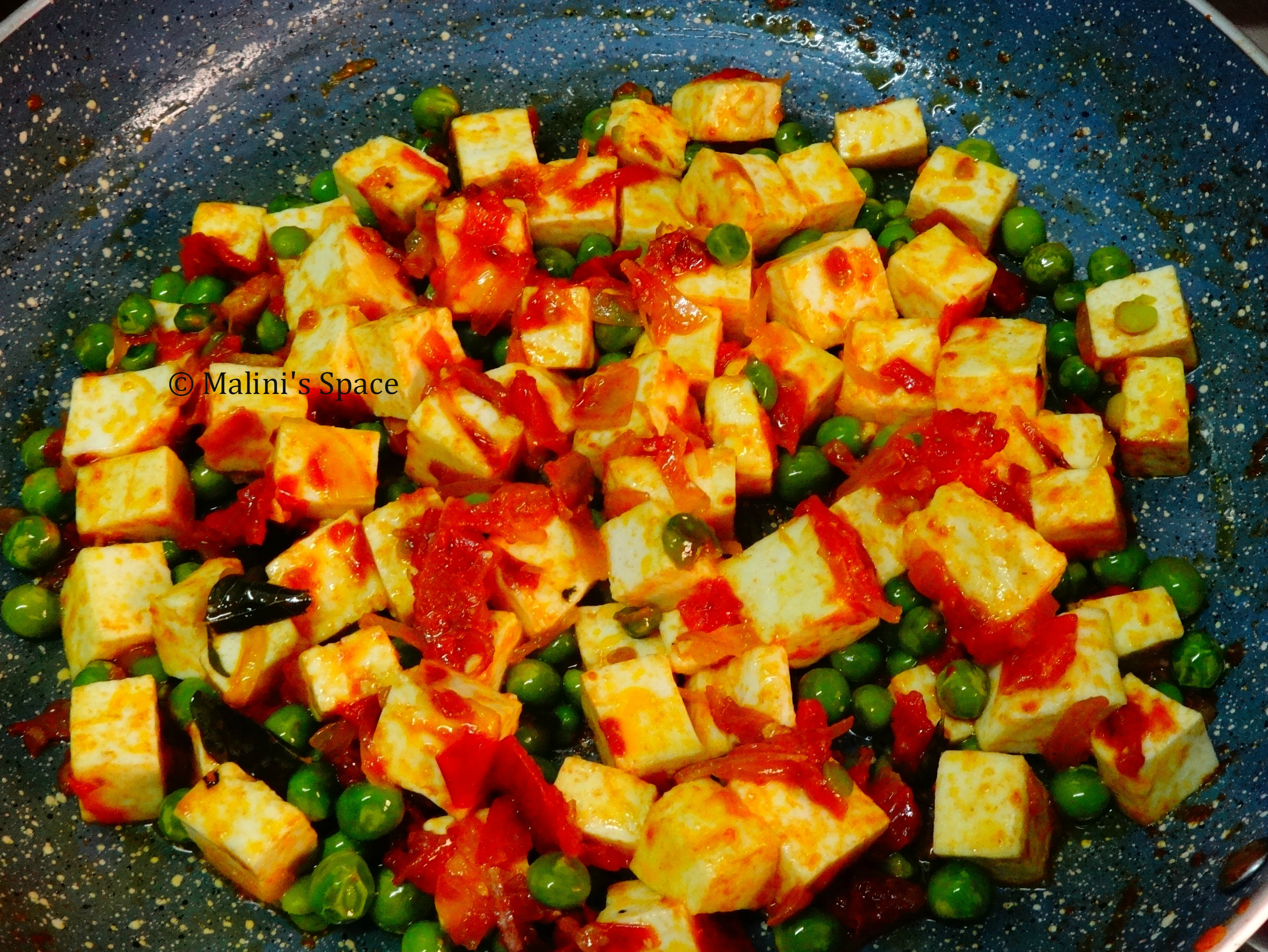 Paneer cubes added