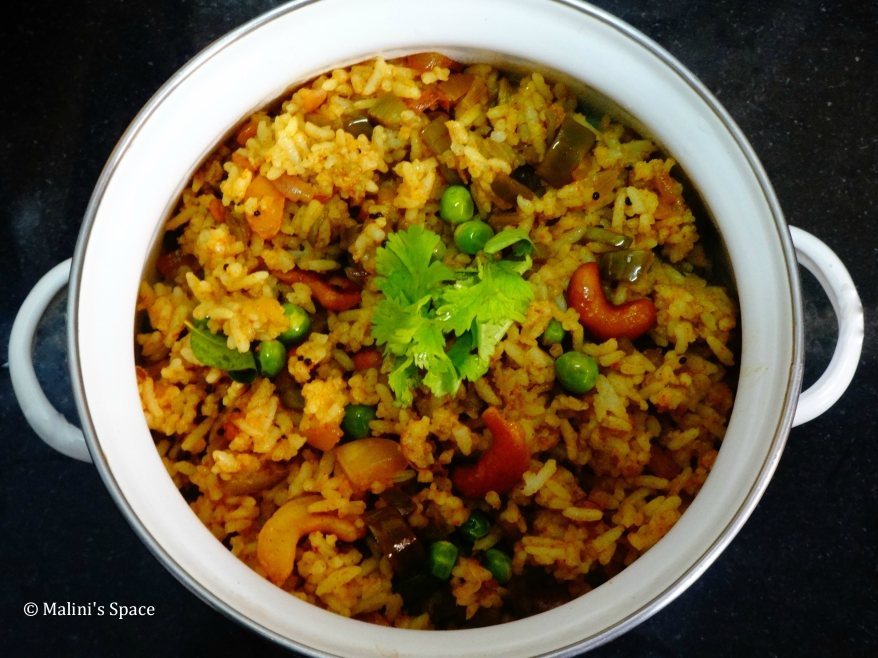 Vangibath (Brinjal Rice)