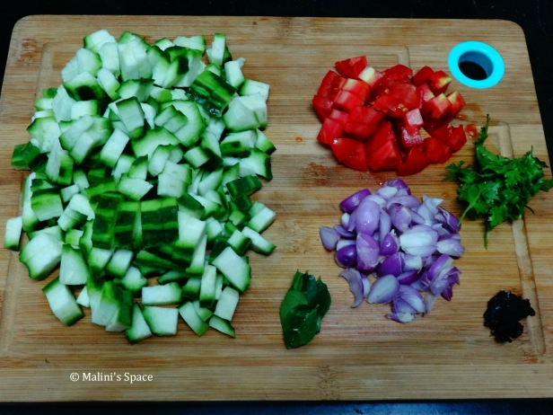 Ingredients for Ridge Gourd Chutney