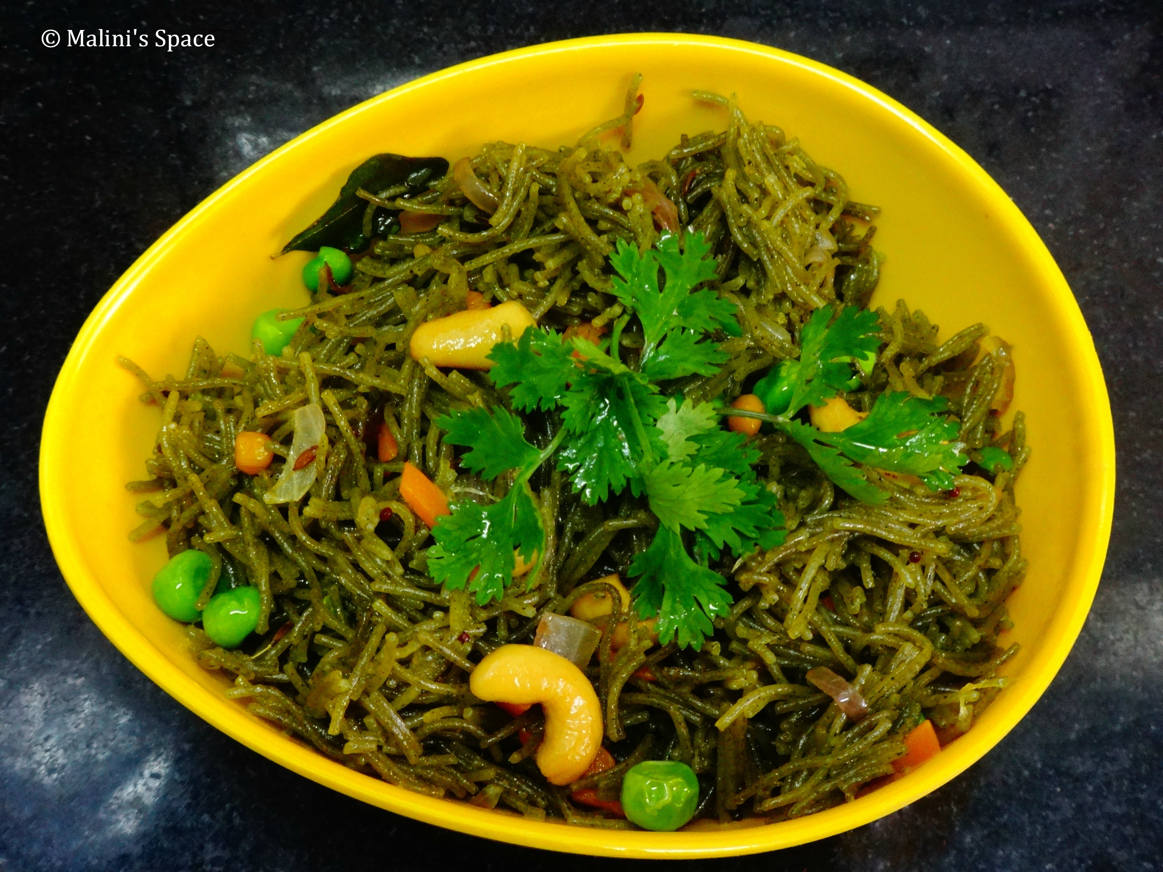 Spinach Vermicelli Vegetable Pulao