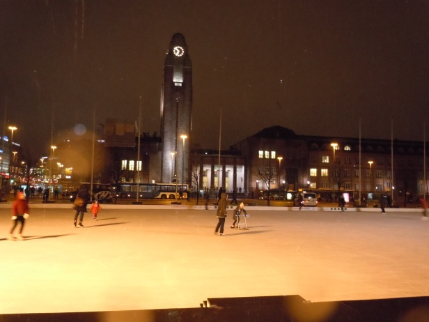 Skating at Railway square