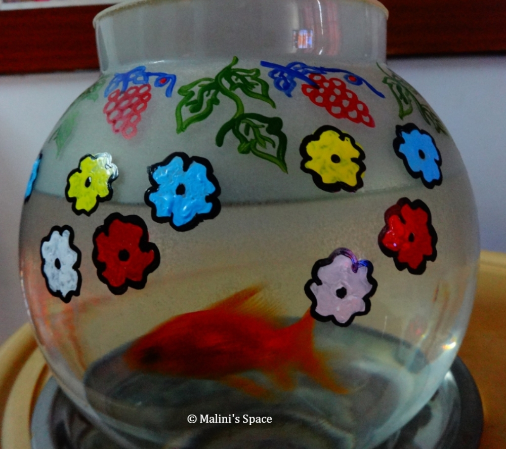 Painted Bowl for Fish