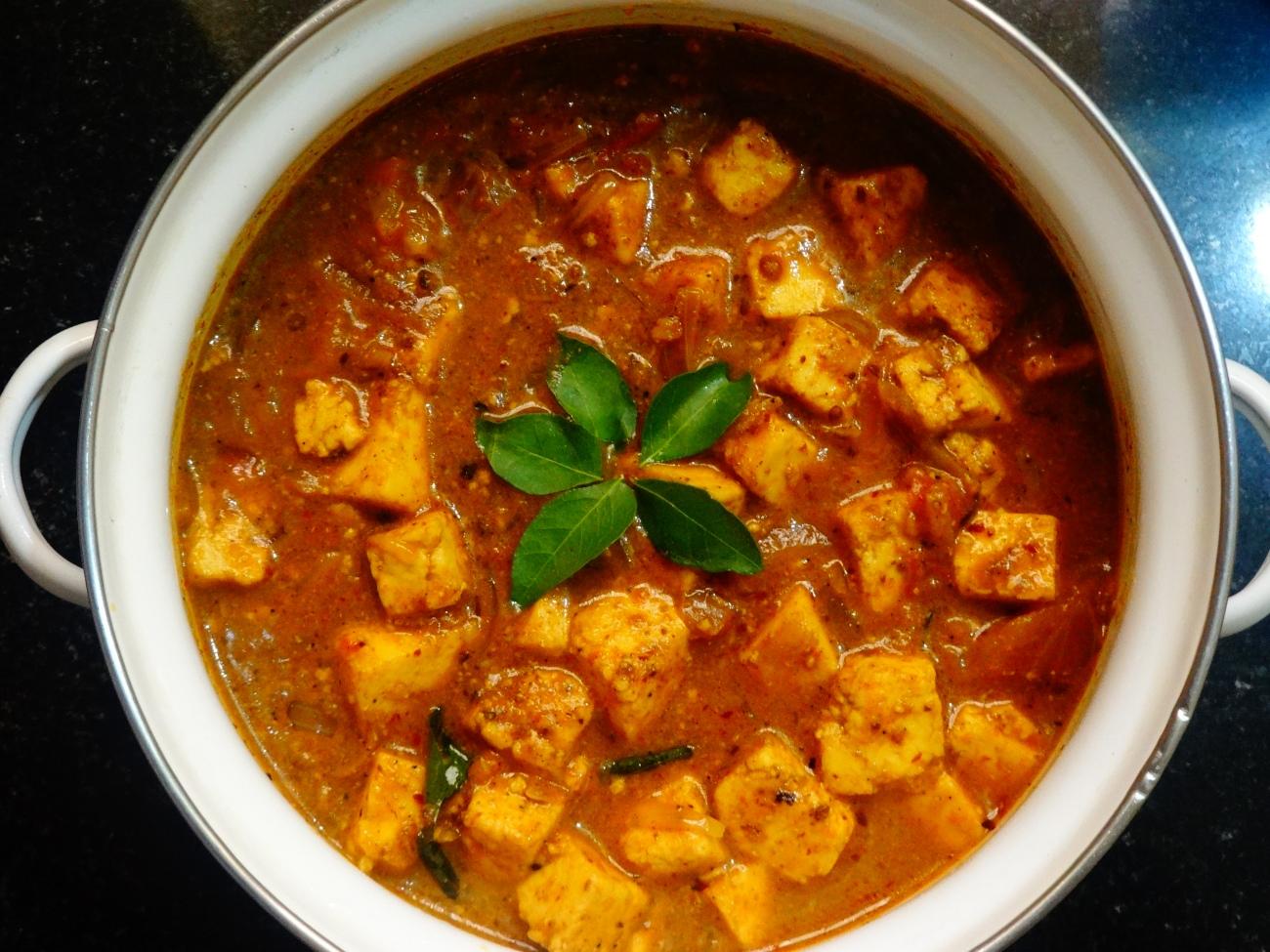 Marinated Paneer Gravy | Kadai Paneer Gravy recipe