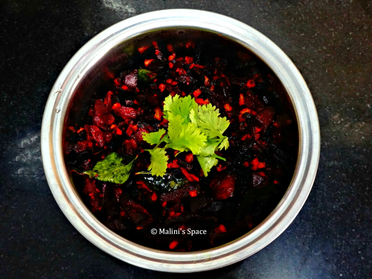Beetroot Fry | Beetroot Poriyal