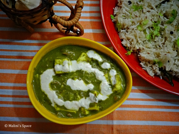 Palak Paneer | Spinach Cottage cheese recipe