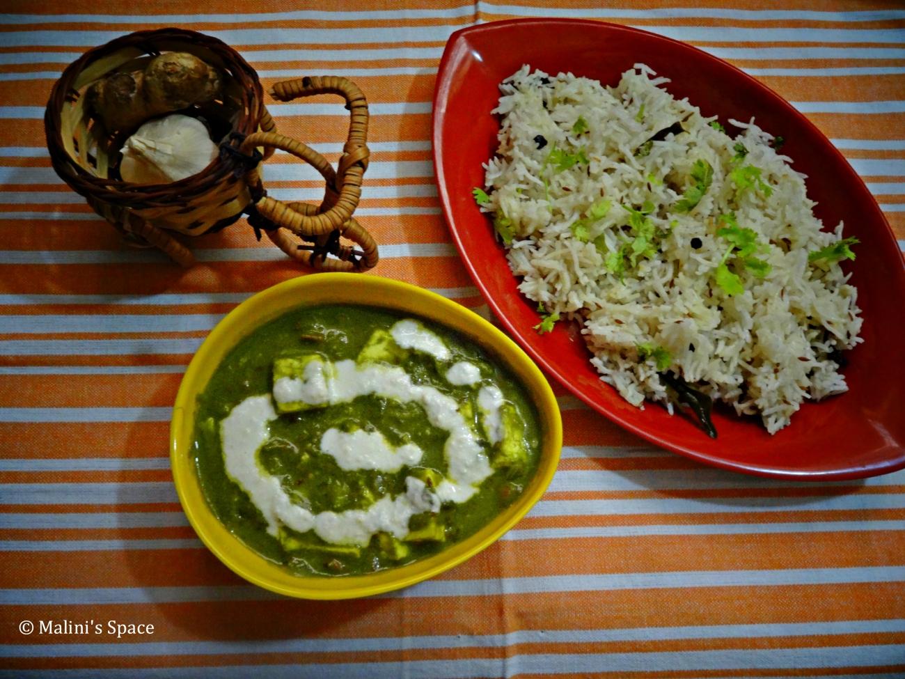 Palak Paneer | Spinach Paneer Gravy