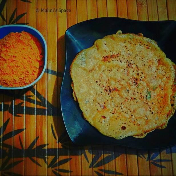 Instant Wheat Dosa | Atta Dosa