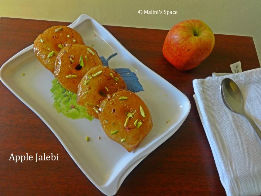 Apple Jalebi | Apple Fritters - Indian Dessert