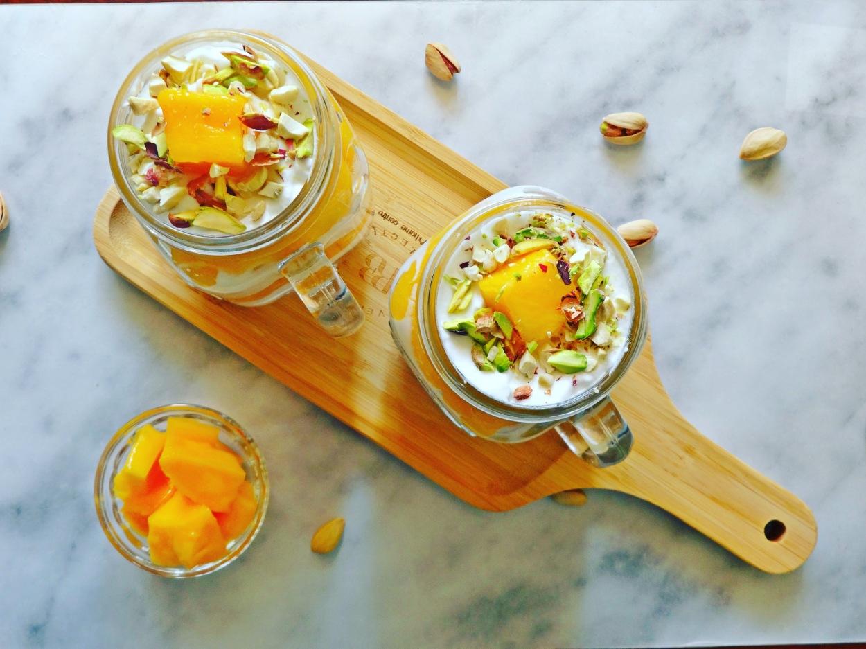 Layered Mango & Cream Dessert