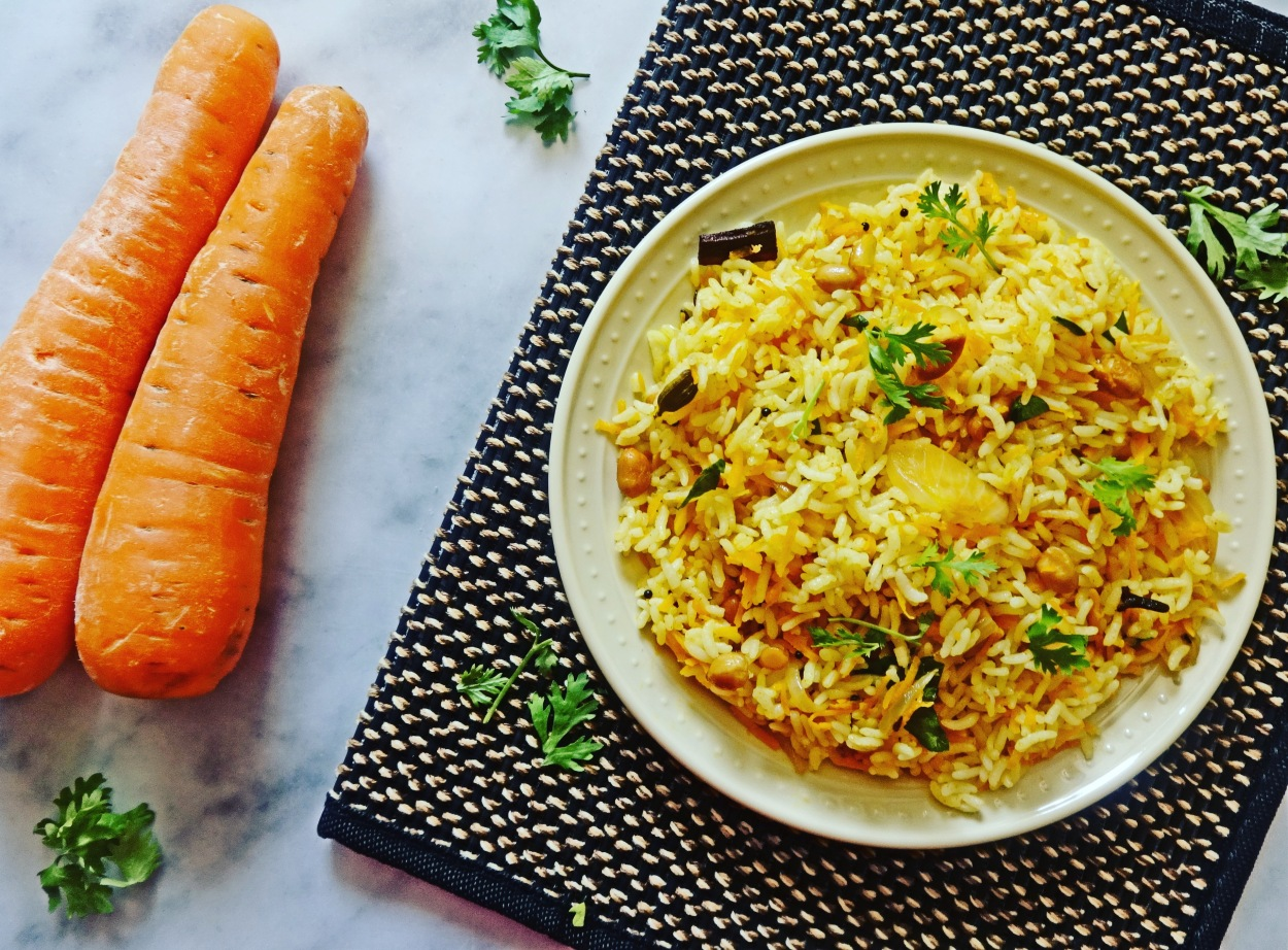 Carrot rice | Carrot pulao recipe