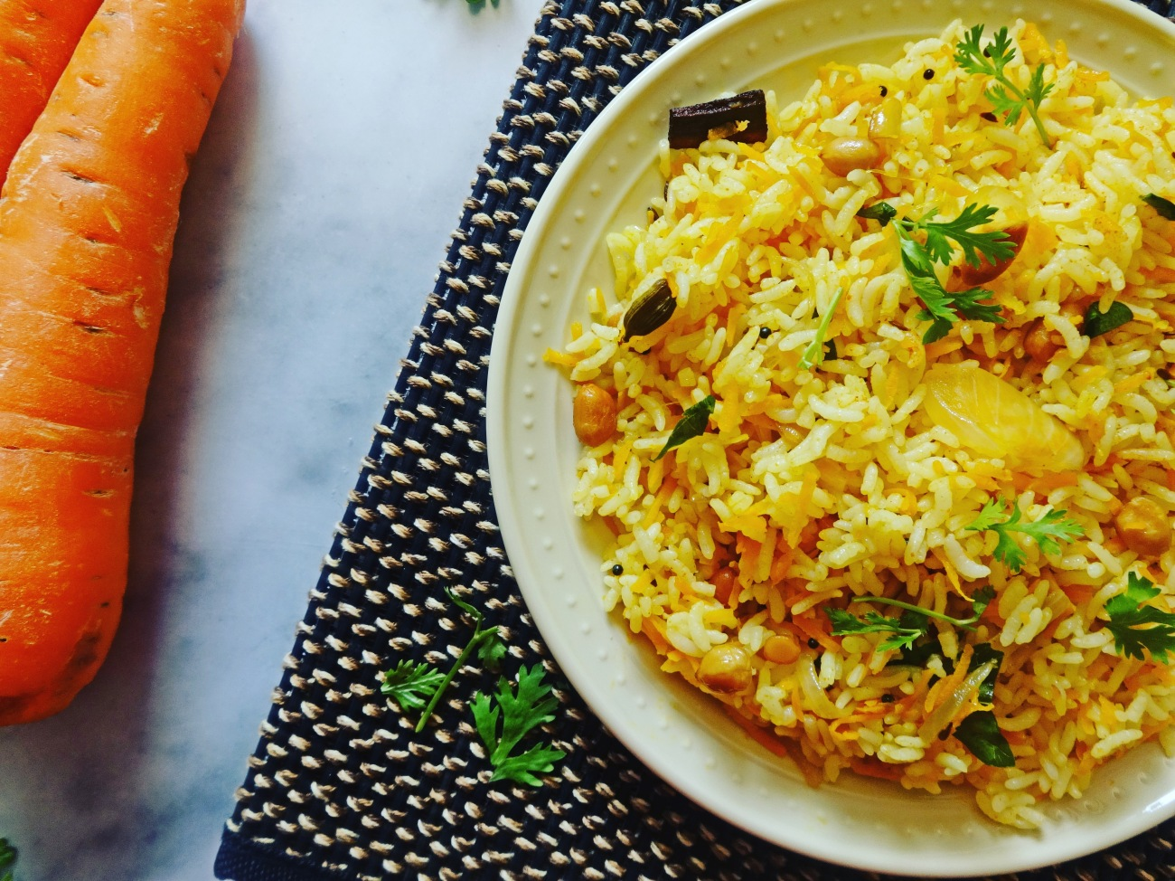 Carrot rice | Carrot pulao recipe