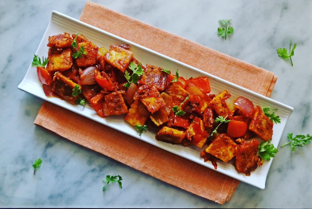 Paneer Capsicum Chili Recipe