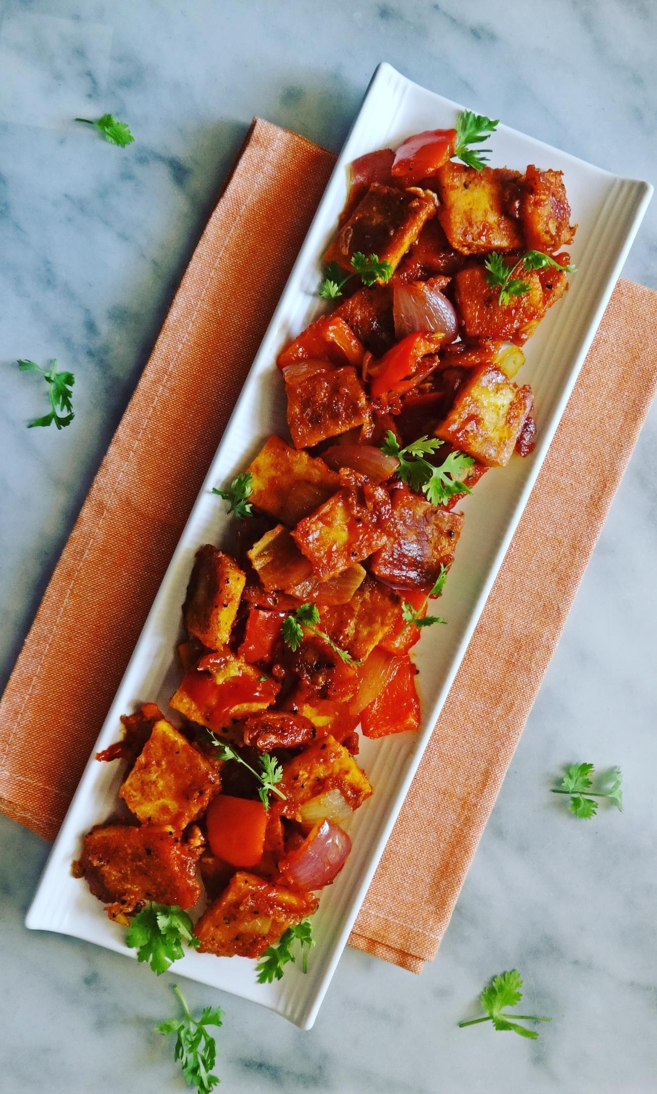 Paneer and Capsicum Chili Recipe