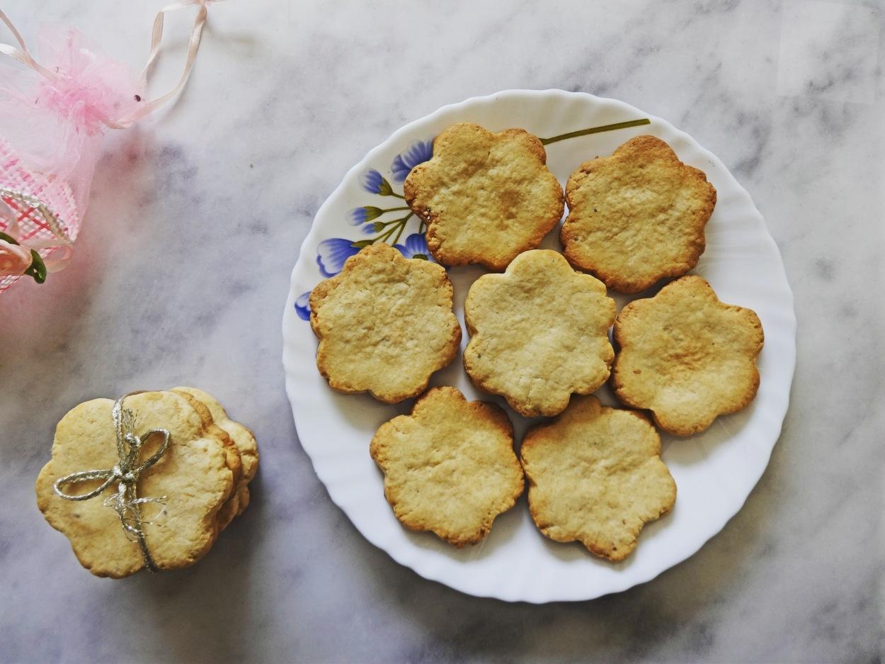 Egg-less Whole Wheat Cookies Recipe
