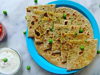 Green Peas Paratha Recipe