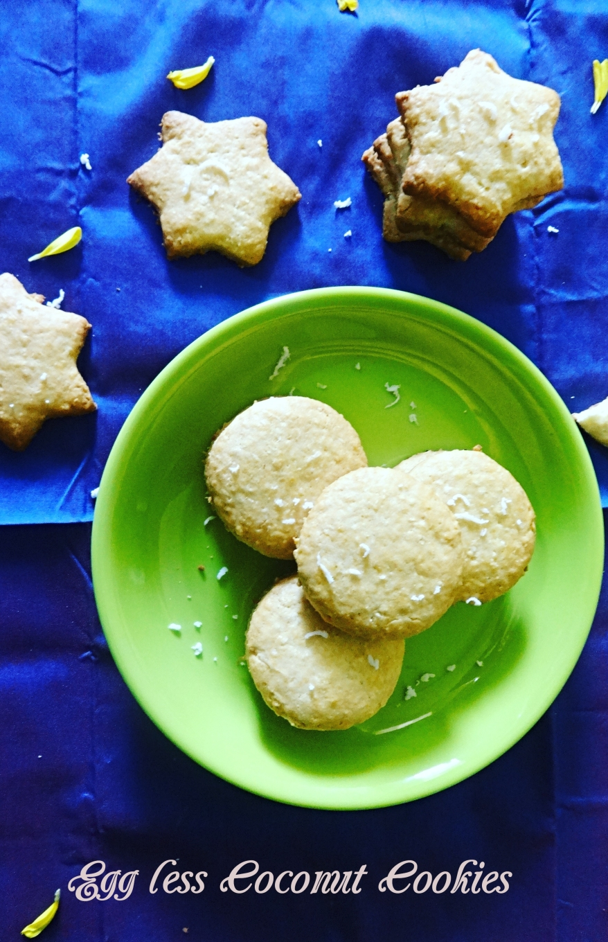 Egg less Coconut Cookies