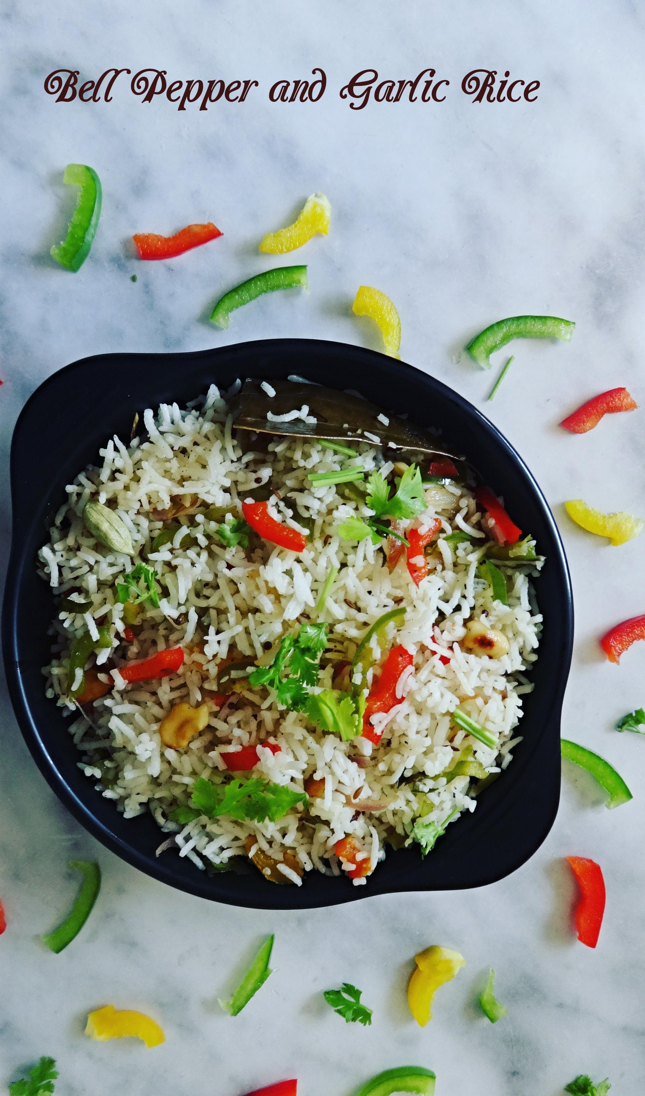 Capsicum and Garlic Fried Rice