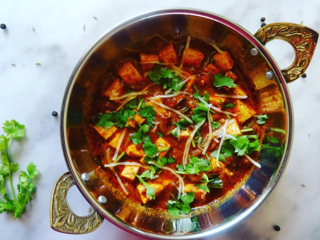 Marinated Paneer Gravy | Kadai Paneer Recipe